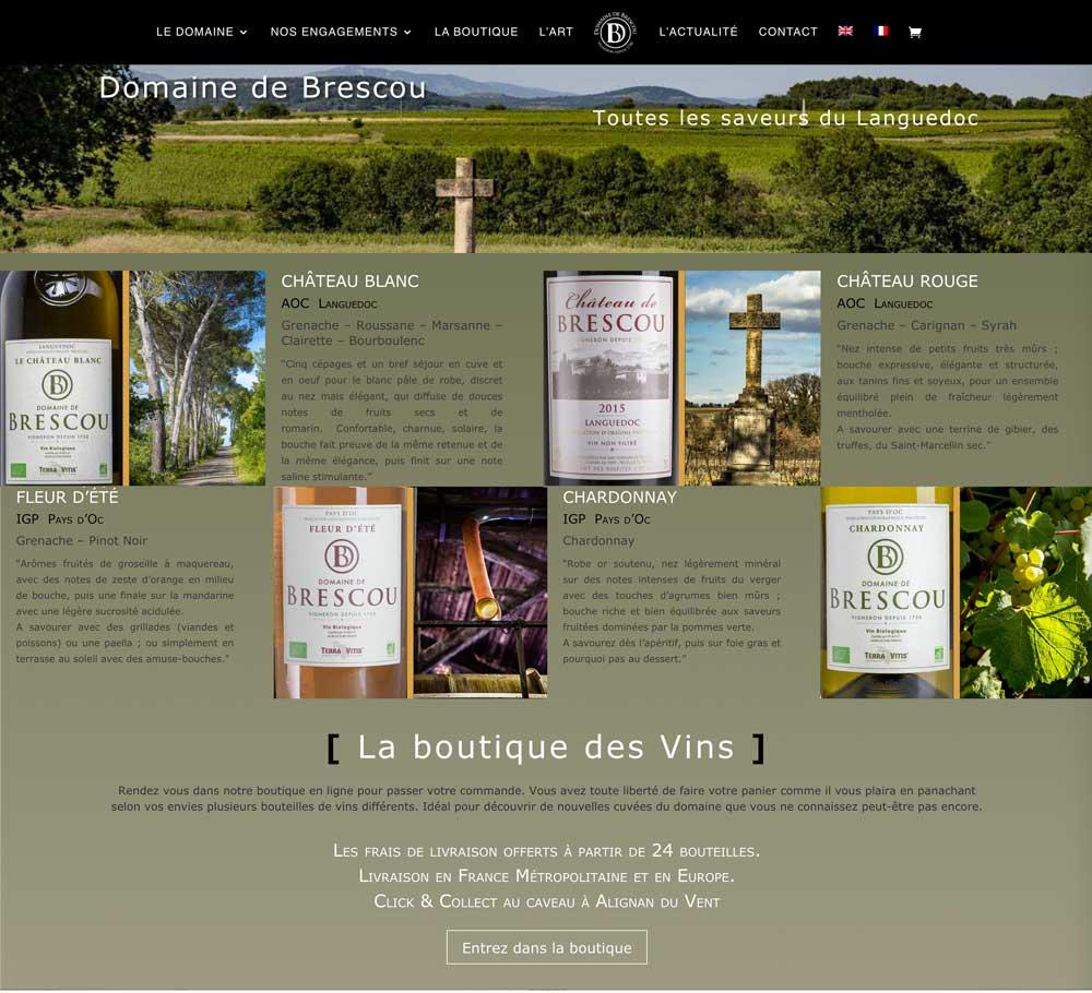 nouveau site internet vigneron